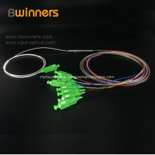 1X16 tubo de aço tipo PLC cabo de fibra óptica divisor