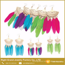 Hot Sale Sector Feather Fashion African Earrings