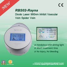 Rbs02 veines d'araignée sans douleur élimination laser laser à diodes Rbs 980nm