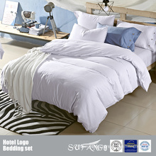 Custom Plain Cotton Light Color Hotel Bedding Set Wholesale Cheap Bed Linen Bedding Sets Made In China