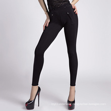 High Quality Lady Skinny Leggings with Zipper Decoration
