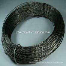 Fio de ferro trançado preto recozido