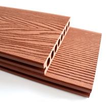 Soild Round Hollow Struction Deep Embossing WPC Wood Plastic Composite Decking Floor
