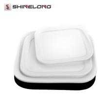 La porcelaine de plat carrée de Y073 plats des assiettes en gros de dîner pour des mariages en vrac