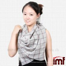 Hot sell ladies shawl plaid pashmina shawl scarf mesh cashmere