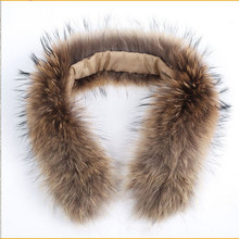 Collier de fourrure de raccoon véritable en peau de raccoon de qualité supérieure