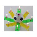 Venda quente de velas não giratórias em formato de futebol