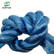 3 Strand Twisted/Twist Blue PP/Polypropylene Splitfilm/Split Film Rope for Agricultural Packing