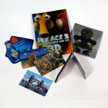 3D Fridge Magnet Sticker with Lenticular Effect Plastic PVC Printing