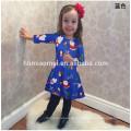 Qualitäts-blaues buntes Kostüm-Kleid für Kinderweihnachtsmädchen-Kleid