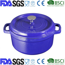 Nonstick Round or Oval Cast Iron Cocotte BSCI LFGB FDA Approved