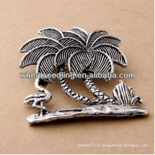 2013 New Style Antic Silver Jewelry Fairy avec broche oiseau BH34