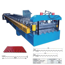 China corrugated sheet rolling machine corrugated Roof Roll Forming Machine trapezoidal roof tile roll forming machine