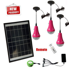 Off grid mini solar home led lighting kit with 3/6/9/12W solar panel for indoor lighting