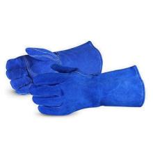 Schweißerhandschuh Royal Blue Cow Split Long Leather Arbeitshandschuhe