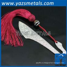 серебрение закладка с красной лентой