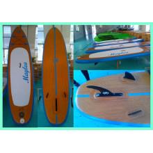 Prancha de stand up paddle de madeira, prancha de surfe inflável