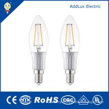 220V 3W E27 SMD Cool White LED Filament Candle Light