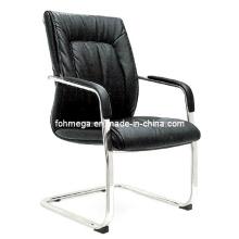 Chaise de conférence en cuir moderne en cuir aux jambes (FOH-B39-3)