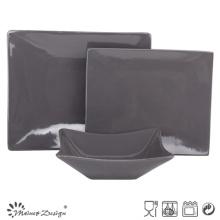 Square Shape Grey Color 18PCS Dinner Set