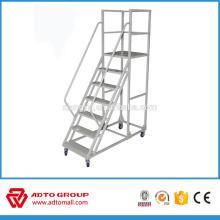 Manufacture OEM mobile aluminum platform ladder,folding platform ladder,movable aluminum stair