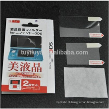 Anti Filme + Protetor de tela LCD completo para Nintendo 3DS com pano de limpeza