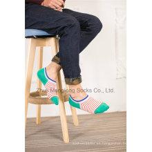 Calcetines de algodón de diseño de diseño personalizado de los calcetines de los calcetines del corte de los calcetines con los diseños del talón del gel de Silicion