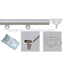 white plastic bay window curtain track
