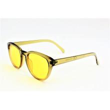 Shiny Transparente Gelb Fashion Style Vintage Sonnenbrille - 16308