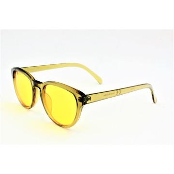 Shiny Transparent Yellow Fashion Style Vintage Sunglasses--16308