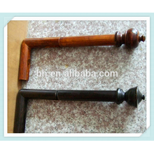 Contemporary Bay Window Decorative Wooden Curtain Rod Poles Set