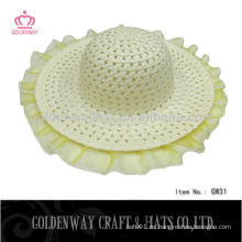 Sombrero de la trenza del papel promocional de los cabritos para el verano