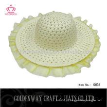 Chapéu de trança de papel para crianças promocional para o verão