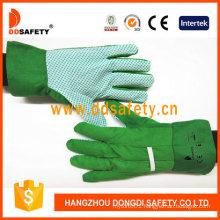 Kids Garden Glove with Green PVC Dots