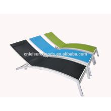 Original aluminium poolside sling sunbed