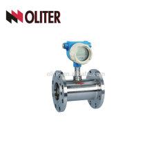 caudalímetro digital de la turbina del tipo de la turbina del agua del aire de encargo del aceite combustible