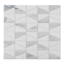 China Supplier Trapezoid Stained Glass Mosaic Tile for Kitchen Backsplash