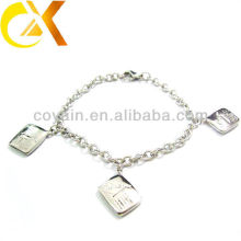 stainless steel jewelry bracelet with pendant for lovely girl