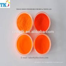 LED Red Nitrides Luminophor-Pigmentpulver Wird zur Dekoration verwendet und beleuchtet Phosphorpulver