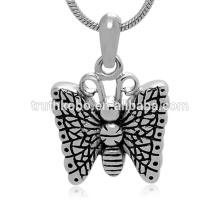 Mode Pendentif Urne De Papillon De Haute Qualité En Acier Inoxydable Crémation Pendentif En Gros Souvenir Bijoux