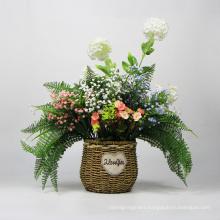 Garden ornaments handmade elegant artificial hanging basket plants