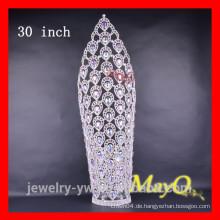 Großer großer Pfau-Entwurfswettbewerb-Kronen mit AB-Kristall für Prinzessin