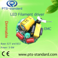 2W/3W/4W/5W/6W/7W/8W E14 LED Driver for Filament Bulb with EMC