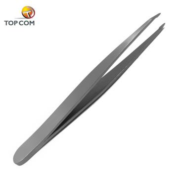 Private label eyelash tweezers eyebrow forceps stainless steel