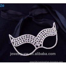 Beautiful fashion jewelry rhinestone kids masquerade party masks, cheap party masks