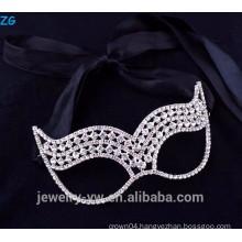 Beautiful fashion jewelry rhinestone kids masquerade party masks, cheap party masks