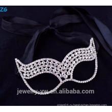 Красивейшие ювелирные изделия rhinestone ювелирных изделий маскарадные маски партии, дешевые маски партии
