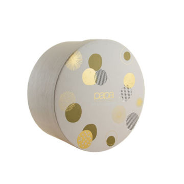 Custom Printing Gold Stamping Round Packaging Paper Box