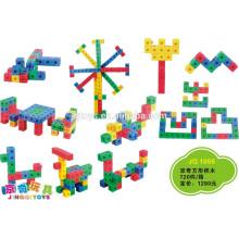 JQ1055 Niños preescolares de plástico cuadrados de construcción educativa Bloques Puzzle