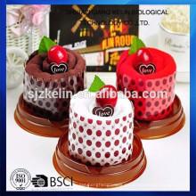 China Toalla vendedora caliente de la torta para la toalla de la torta del regalo del día de los niños / toalla del regalo / toalla de la cara / toalla de playa / toalla de mano;